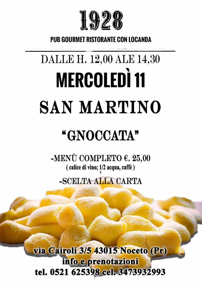"""San Martino """"ogni gnocco un soldino""""  presso Pub Gourmet 19.28 Ristorante"""