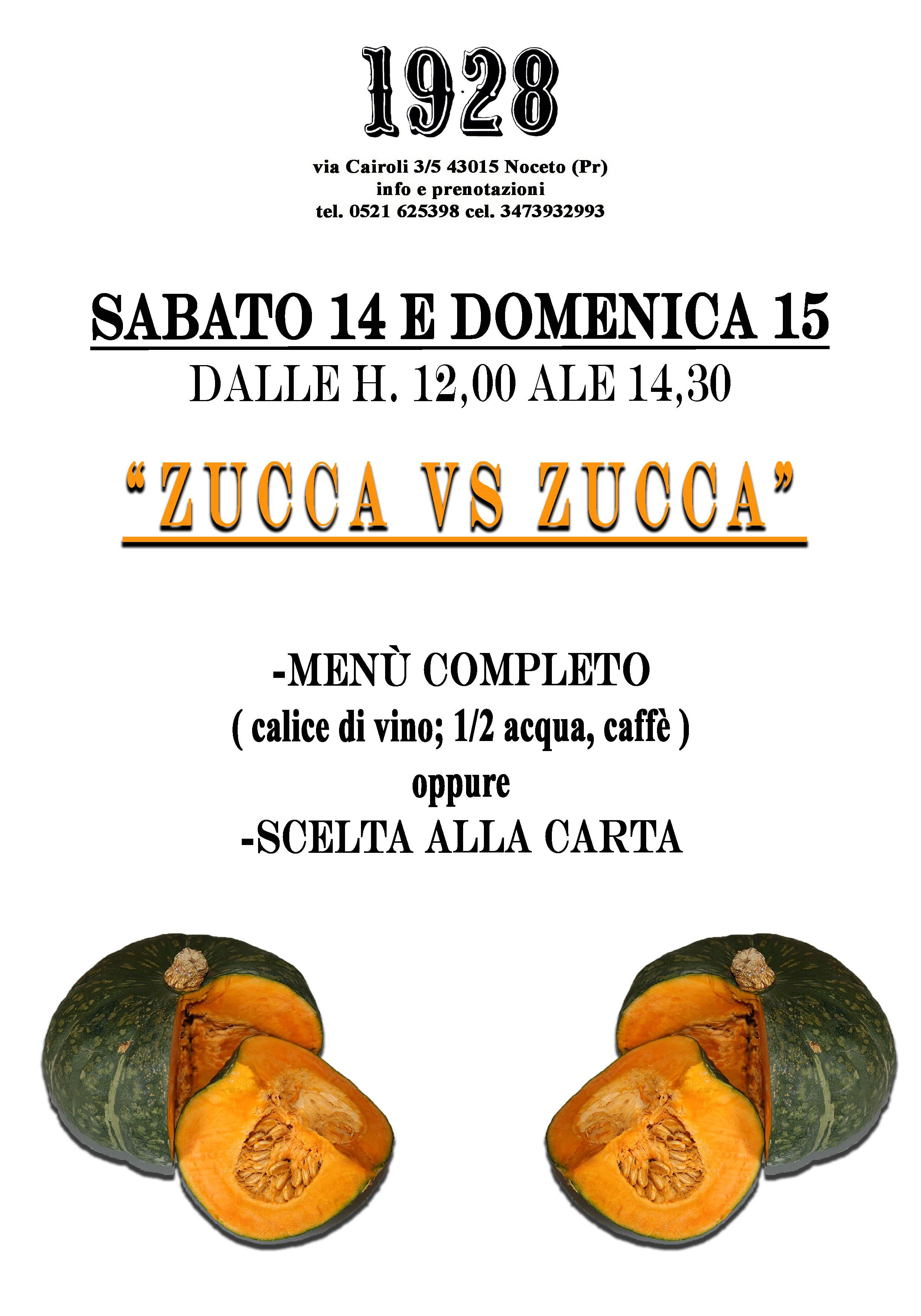 """Al Pub Gourmet 19.28 Ristorante """"zucca vs zucca"""""""