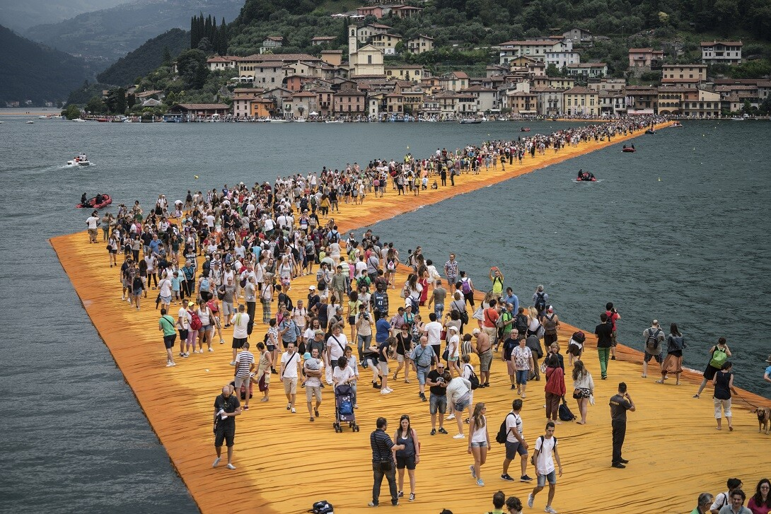 CHRISTO - WALKING ON WATER   di Andrey Paounov (USA-Italia, 2018 - 100')  al cinema Edison virtuale