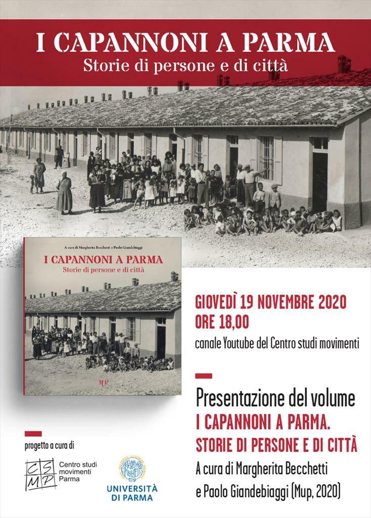 """Presentazione online del libro  I """"Capannoni"""" a Parma  Storie di persone e di città"""