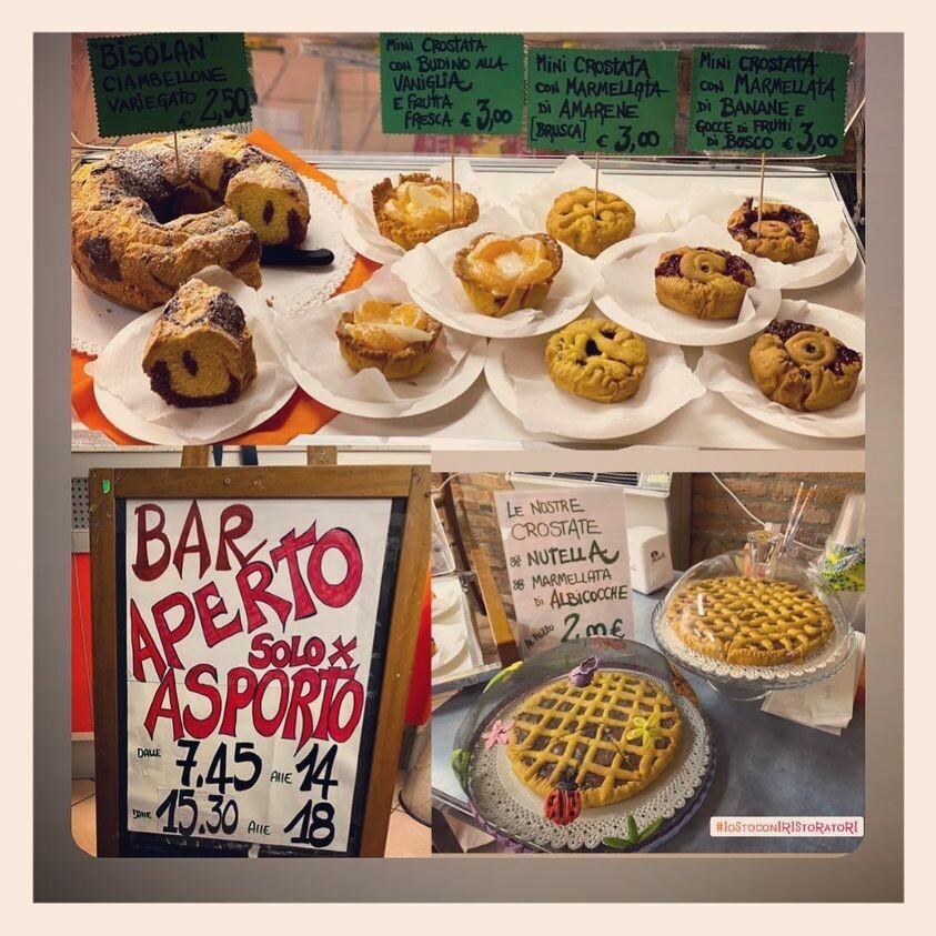 COLAZIONI da ASPORTO con le TORTE   classiche della NONNA Osteria della Posta a Borghetto