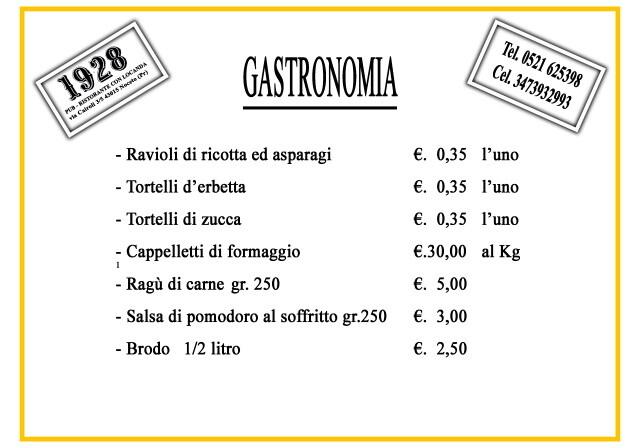 Pub Gourmet 19.28 Ristorante: il menù d'asporto o a domicilio della gastronomia