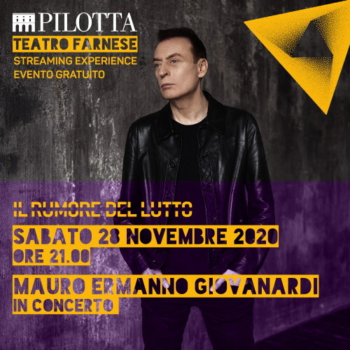 Mauro Ermanno Giovanardi in concerto dalla Nuova Pilotta