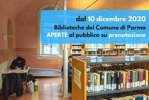 LA CULTURA RIPARTE DALLE BIBLIOTECHE: dal 10 dicembre riprendono i servizi su prenotazione