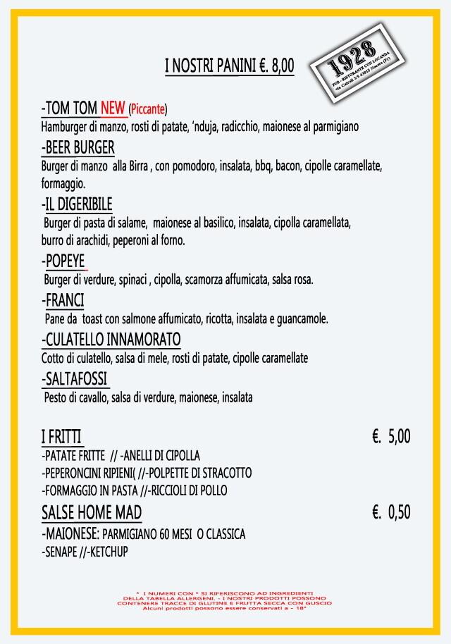 Pub Gourmet 19.28 Ristorante: panini d'asporto