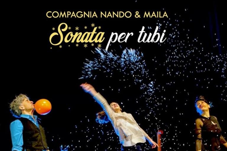 Christmas Corner 2020: il divertentissimo spettacolo 'Sonata per tubi' del duo Nando e Maila.