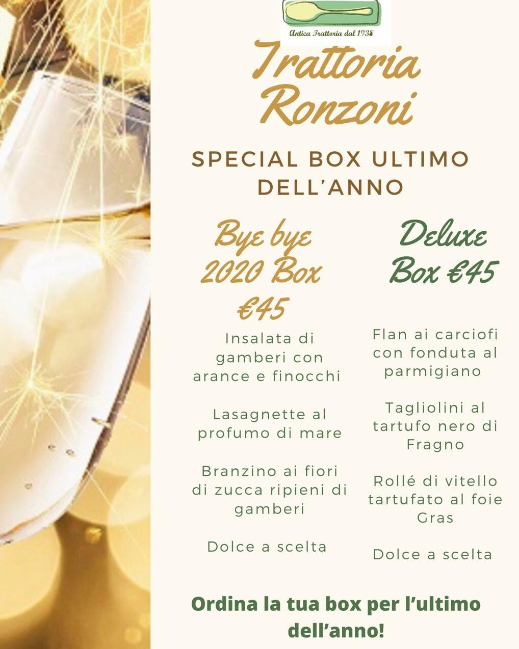 Trattoria Ronzoni:le Box di San Silvestro!
