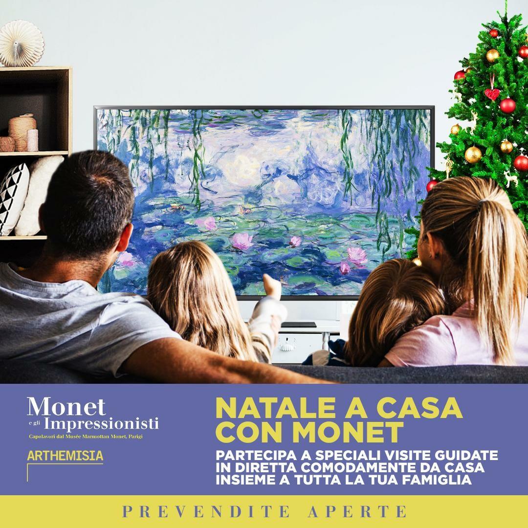 Natale con Monet  5 appuntamenti ONLINE per un'esclusiva visita guidata alla grande mostra di Monet