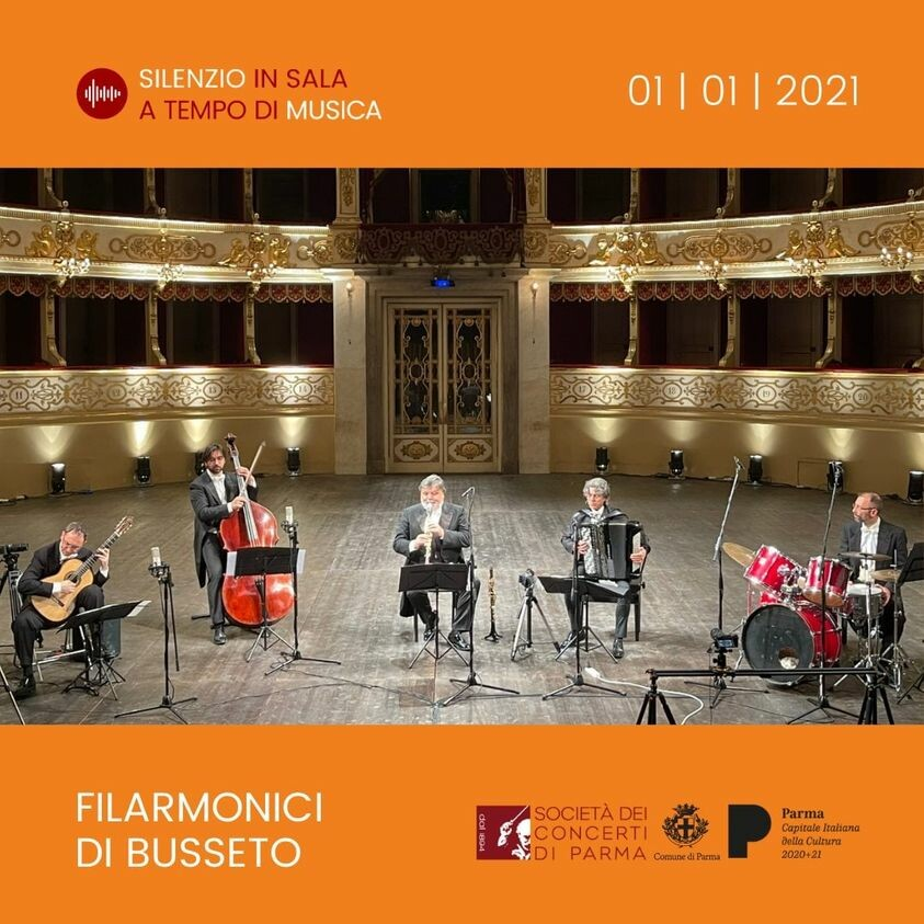 Concerto online di Capodanno con i Filarmonici di Busseto