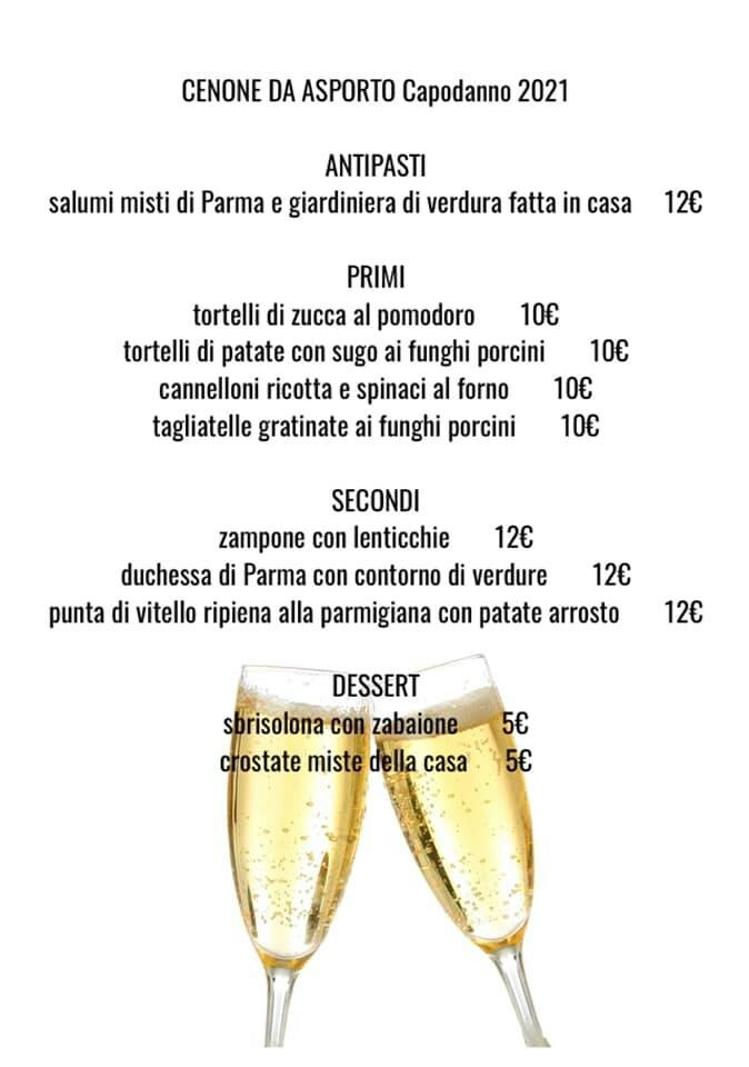 Cenone dell'ultimo con i piatti del ristorante GATTO NERO