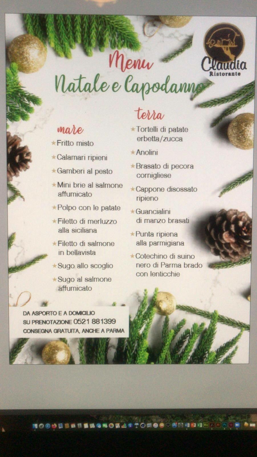 Cenone di San Silvestro con i piatti del RISTORANTE CLAUDIA