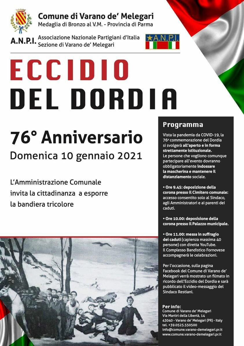 76° Anniversario dell'Eccidio del Dordia Domenica