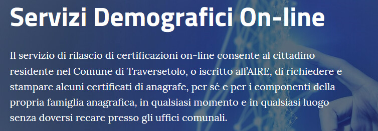 Traversetolo: Anagrafe on-line