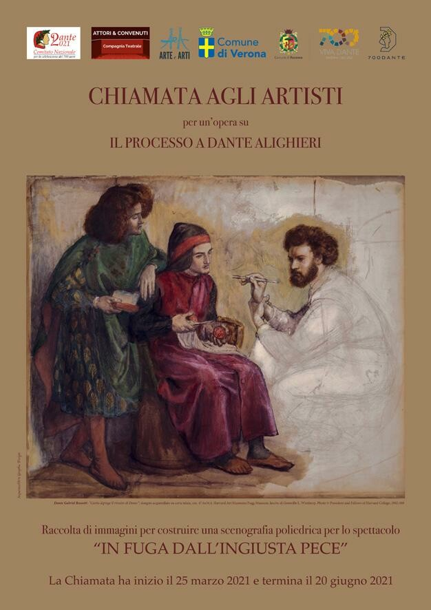 """""""CHIAMATA AGLI ARTISTI""""per la realizzazione di opere inedite sul tema """"il processo a Dante Alighieri"""""""