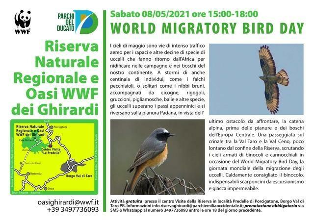 WORLD MIGRATORY BIRD DAY  all'Oasi WWF dei Ghirardi
