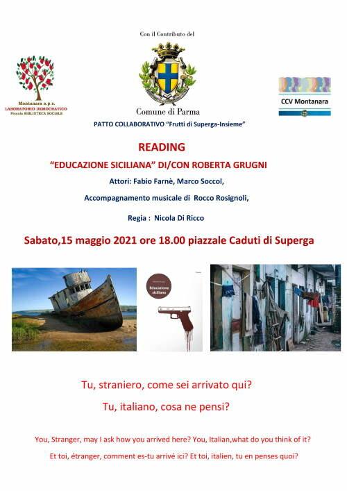 """Roberta Grugni presenta il suo  romanzo """"Educazione siciliana"""" Accompagnamento musicale di Rocco Rosignoli"""