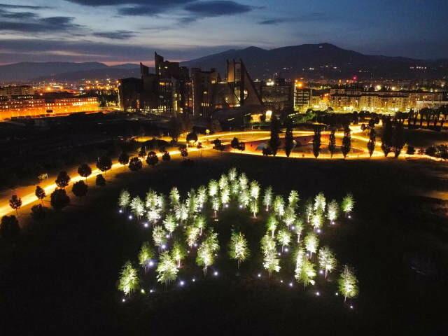 """La Stella di Dante, un'installazione ambientale """"vivente""""  donata a Firenze per celebrare il Sommo Poeta"""