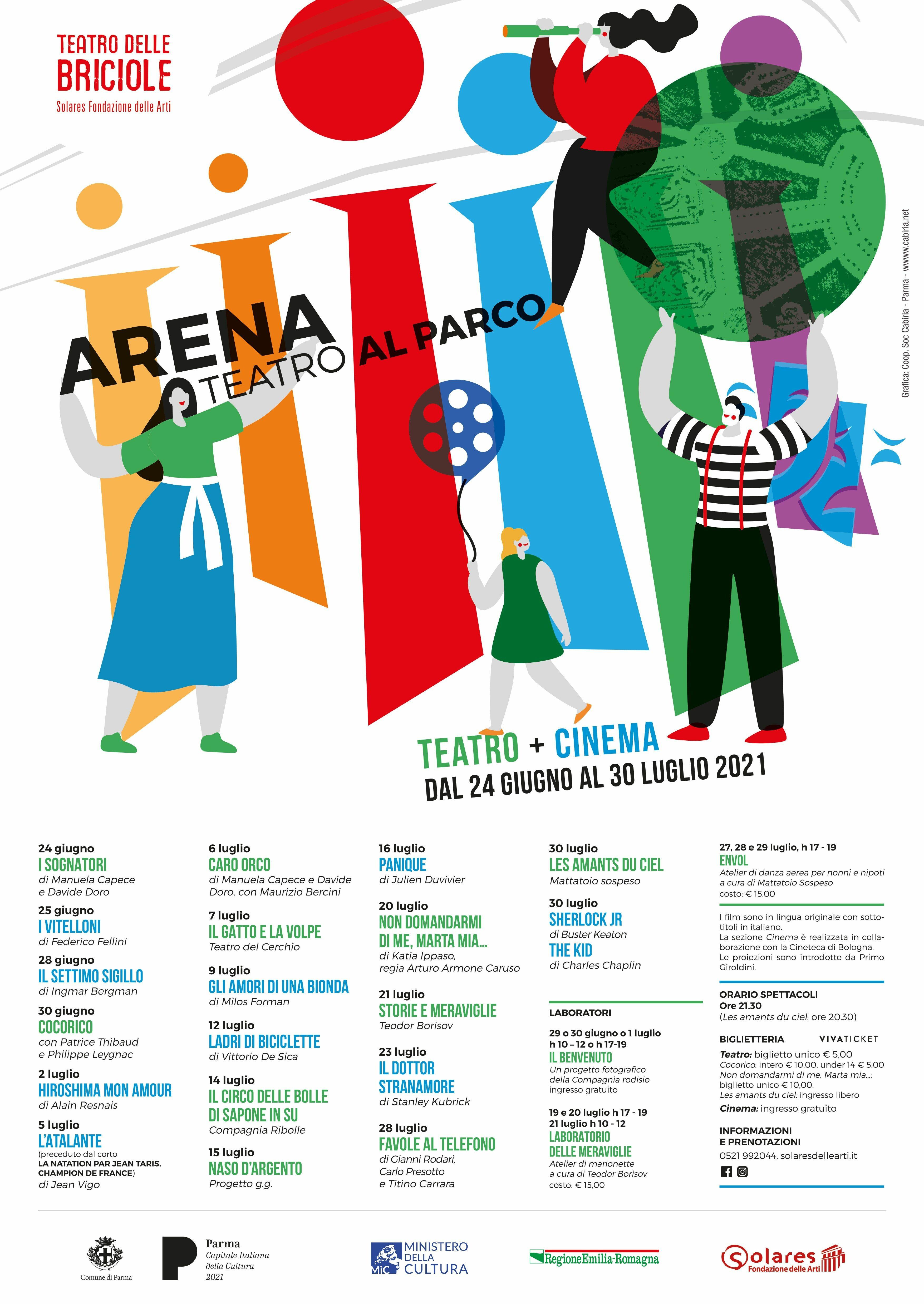«ARENA TEATRO AL PARCO. Teatro + cinema»