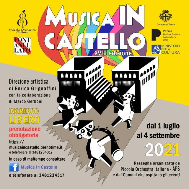 Musica in castello 2021 con Francesco De Gregori. Joe Bastianich, Walter Veltroni, Enrico Ruggeri, Teresa Ciabatti, Enrico Mentana e