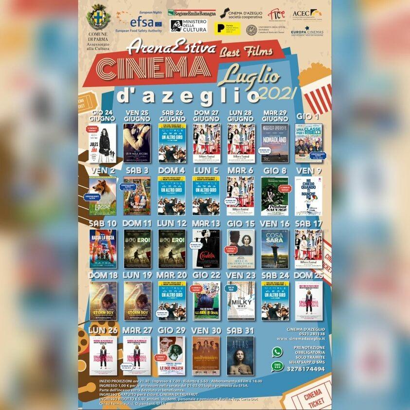 Cinema D'Azeglio Arena Estiva: programma di luglio