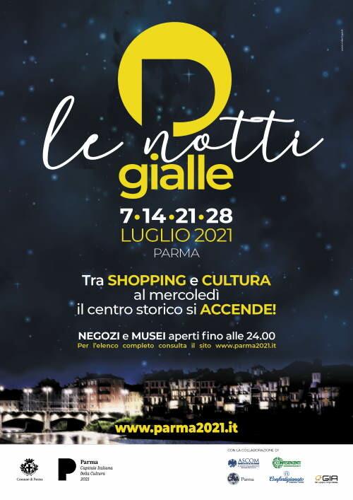 """""""Notti gialle"""", serate dedicate allo shopping e alla cultura a Parma: programma culturale del 28 luglio"""