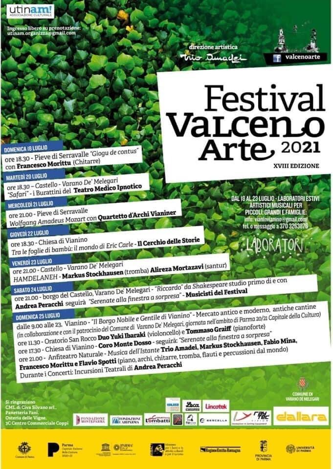 Festival ValcenoArte 2021 – XVIII edizione concerti, spettacoli e laboratori