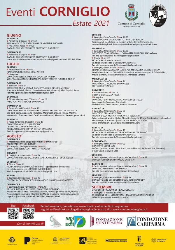 Eventi estivi 2021 a Corniglio