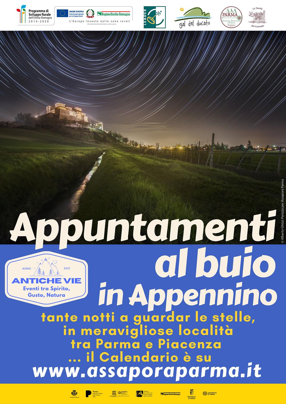 Appuntamenti al buio in Appennino - Eventi Antiche Vie Tante notti a guardar le stelle, in meravigliose località dell'Appennino Emiliano