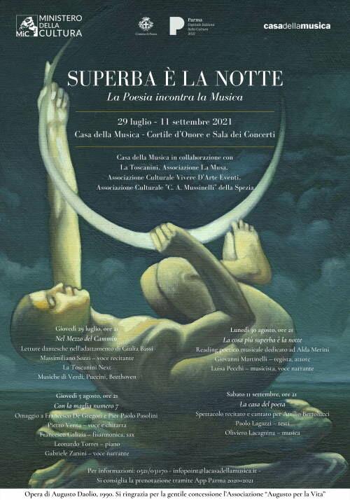 """Superba è la notte   La Poesia incontra la Musica   concerto/spettacolo """"Nel mezzo del cammin"""""""