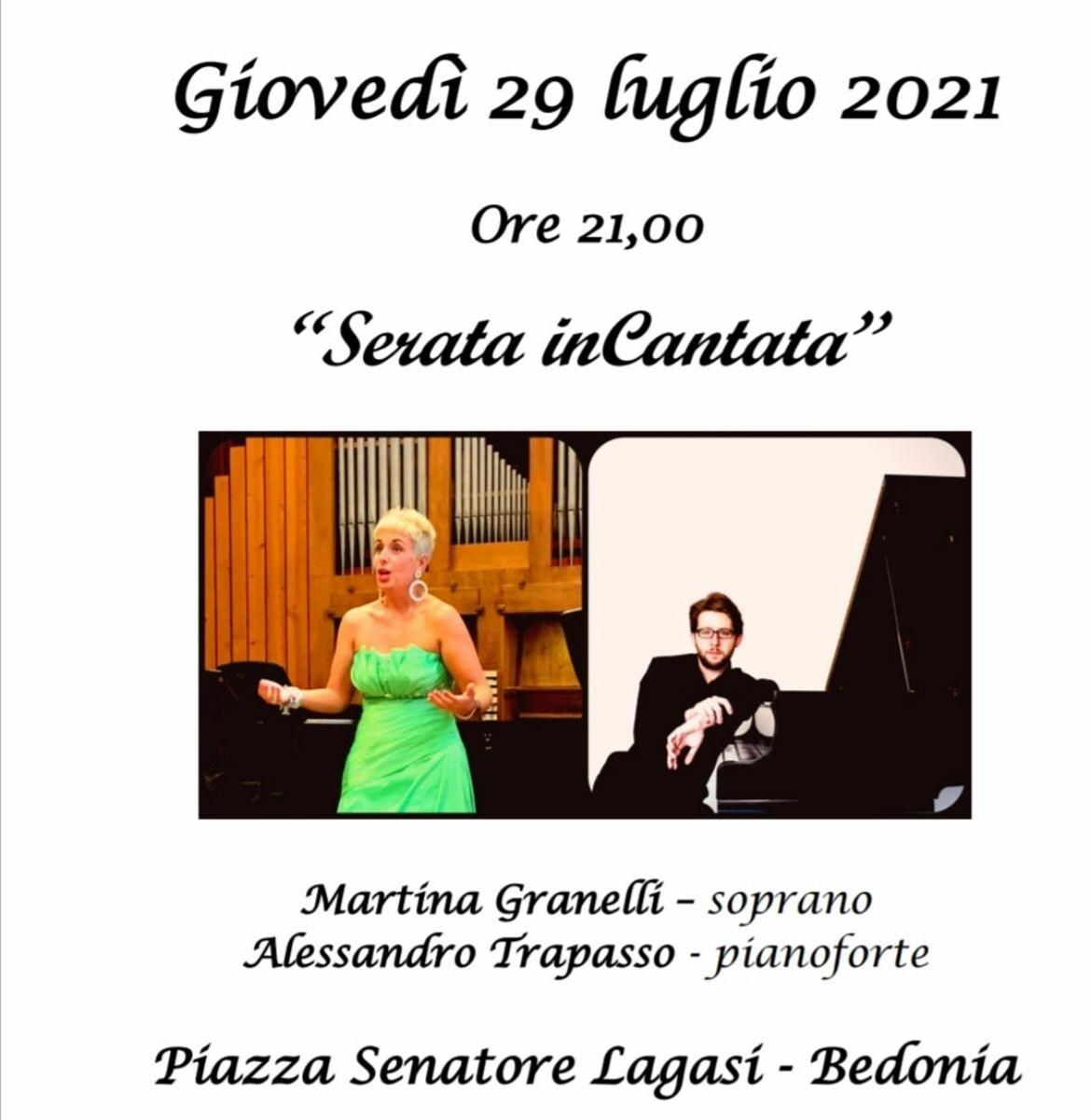 Arte Kunst Festival: concerto del soprano bedoniese Martina Granelli accompagnata al pianoforte dal maestro Alessandro Trapasso