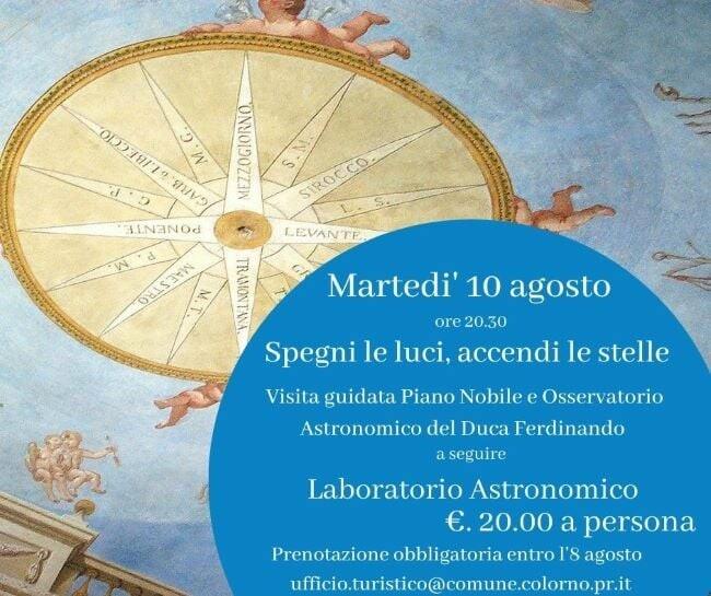 Spegni le luci, accendi le stelle  Visita guidata al Piano Nobile della Reggia e all'Osservatorio del Duca Ferdinando di Borbone