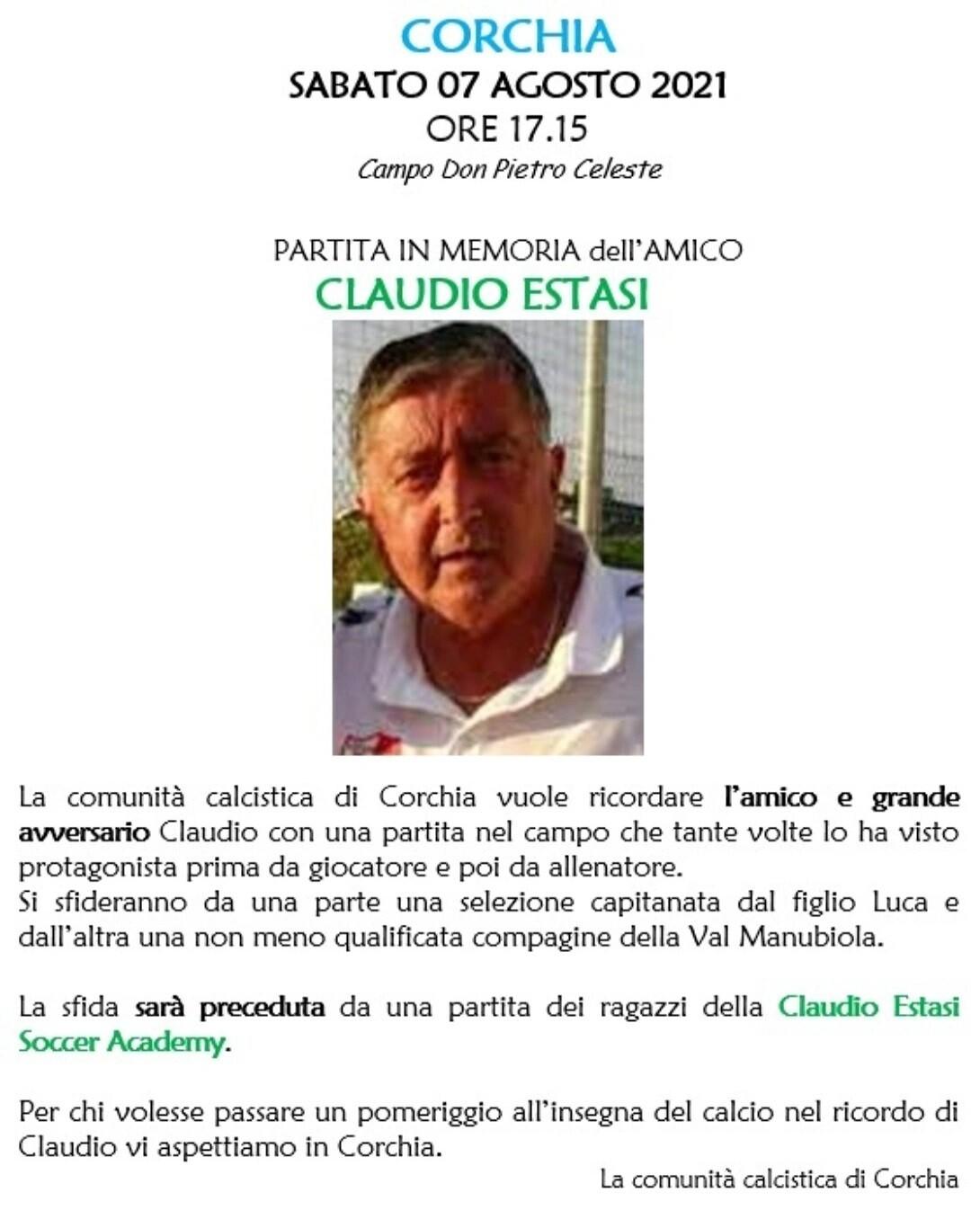 A Corchia partita in memoria di Claudio Estasi