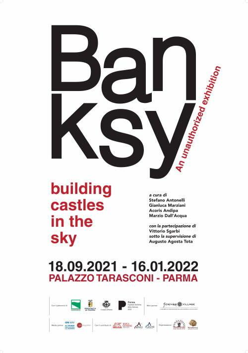 BANKSY. BUILDING CASTLES IN THE SKY a palazzo Tarasconi