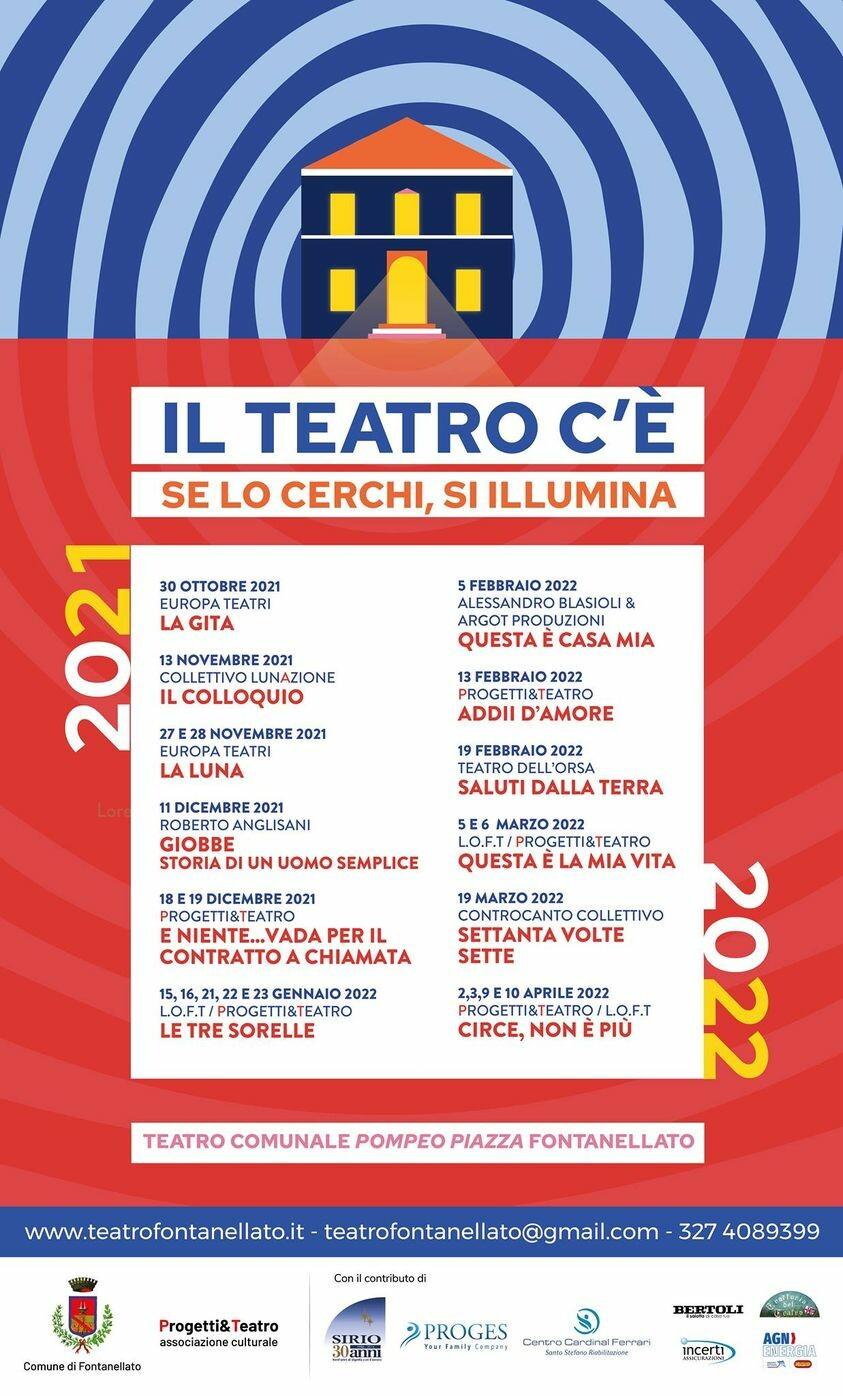 Teatro di Fontanellato : il calendario della stagione teatrale 2021/2022