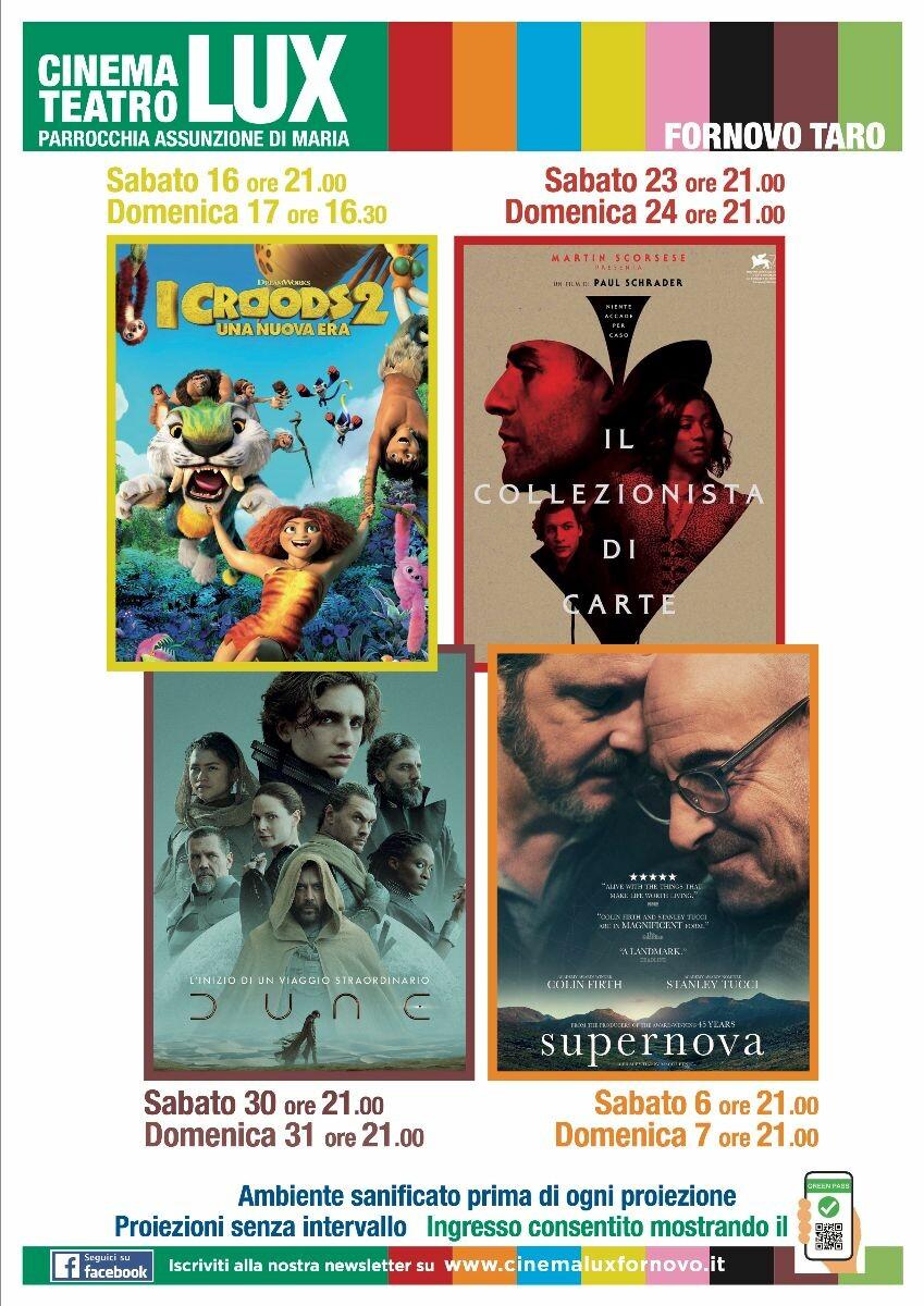 Programma cinema LUX di Fornovo