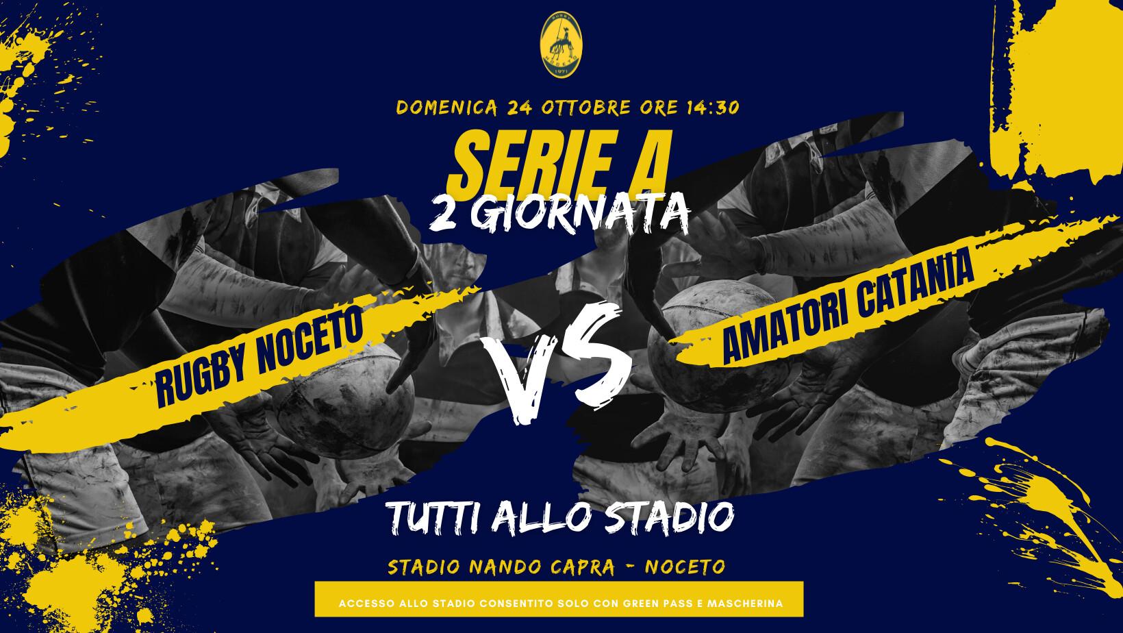 Rugby Noceto vs Amatori Catania  partita del  campionato di serie A di Rugby
